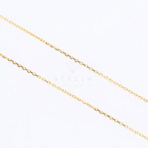 585er Gelbgold Halskette mit Zirkonia Anhänger inkl. Gravur und Etui