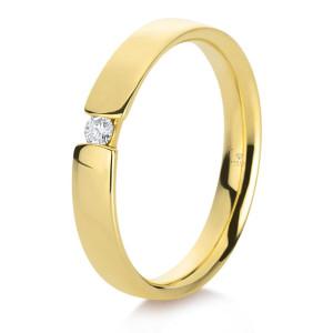 375er Gold Verlobungsring Spannring ca. 0,05 ct. Diamant...
