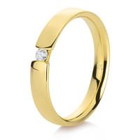 375er Gold Verlobungsring Spannring ca. 0,05 ct. Diamant Gr. 54 Solitär Antragsring