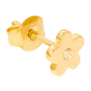 Paar 585er Gold Ohrstecker mit Zirkonia Ohrschmuck Model 5 Blume Etui Ohringe
