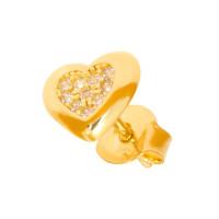 Paar 585er Gold Ohrstecker mit Zirkonia Ohrschmuck Model 10 Herz Etui Ohringe
