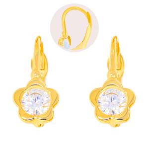 Paar 585er Gold Klappbrisur Ohrringe Blume Ohrhänger...
