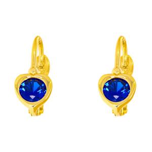 Paar 585er Gold Klappbrisur Ohrringe Herz Ohrhänger...