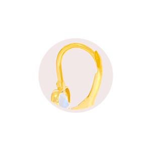 Paar 585er Gold Klappbrisur Ohrringe Herz Ohrhänger Kinder Mädchen Damen Etui 3
