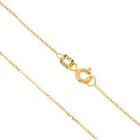 585er Gold Kette mit Kreis Anhänger Zirkonia 45cm inkl. Etui Halskette Collier