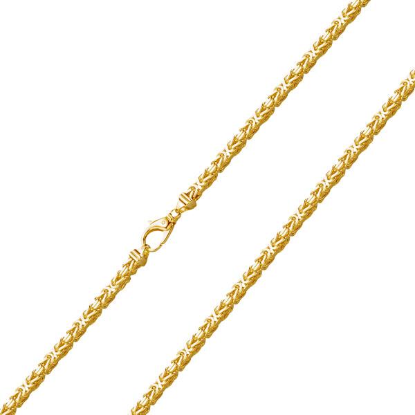 585er Gelbgold Königskette Halbmassiv 4 mm Halskette Collier Unisex