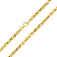 585er Gelbgold Königskette Halbmassiv 5 mm Halskette Collier Unisex Königs Kette