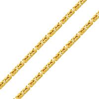 585er Gelbgold Königskette Halbmassiv 7 mm Halskette Collier Unisex Königs Kette 75 cm