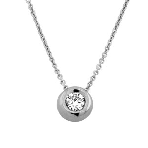 585er Gold Collier mit Diamant 0,05ct. Anhänger...
