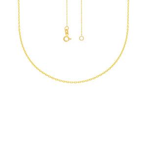585er Gold Collierkette mit Gravurplatte Rund Platte Gold Kette Anhänger 20Ø