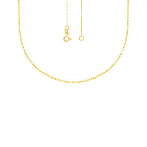 585er Gold Collierkette mit Gravurplatte Rund Platte Gold Kette Anhänger 24Ø