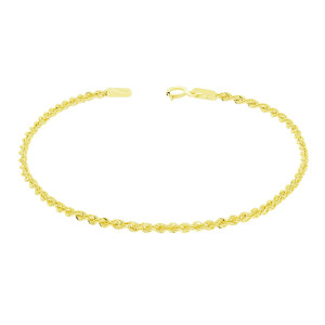 585er Gelbgold Kordelkette Armband 18 cm inkl.Etui...