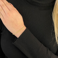 585er Gelbgold Kordelkette Armband 18 cm inkl.Etui Goldarmband Armkette 14K