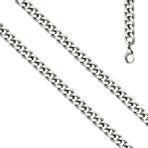 925er Sterling Silber Panzerkette Massiv Collier Halskette Silberkette Breite 7 mm