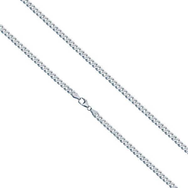 925er Sterling Silber Panzerkette Massiv Collier Halskette Silberkette Breite 3,7 mm