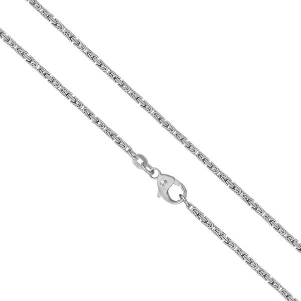 925er Sterling Silber Königskette Massiv 4 mm Halskette Collier Unisex Königs Kette