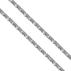 925er Sterling Silber Königskette Massiv 4,8 mm
