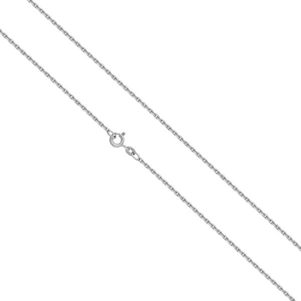 925er Sterling Silber Ankerkette Massiv 1,4 mm Halskette Collier Unisex Königs Kette