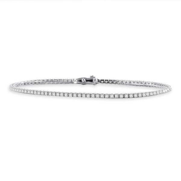 585er Gold Armband mit Diamanten zus. 0,96ct. Tennisarmband Armreif Armkette