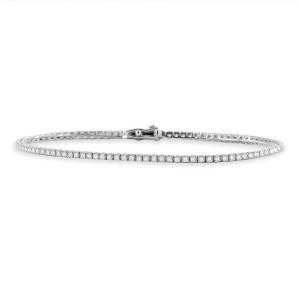 585er Gold Armband mit Diamanten zus. 0,96ct....