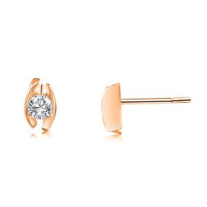 585er Rotgold Diamanten Ohrstecker Spannfassung Ohrringe...