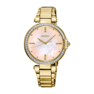 Seiko Quarz Damen-Uhr Edelstahl mit Metallband SRZ518P1