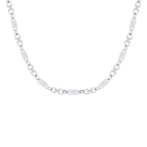 925er Sterling Silber Plattenkette Massiv Kettenbreite: 8...