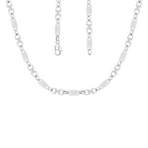 925er Sterling Silber Plattenkette Massiv Kettenbreite:...