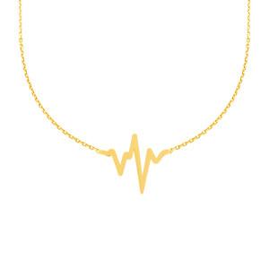 585er Gelbgold Kette mit Herzschlag Anhänger...