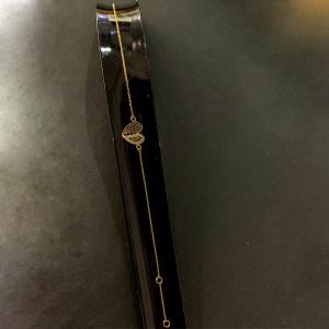 Damen Armband 585er Gold mit Herz Zirkonia Armkette...