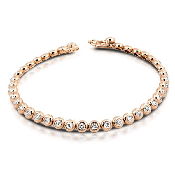 750er Gold Tennisarmband mit Diamanten zus. 0,96ct. Armreif Armkette Armband 18K