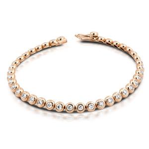 750er Gold Tennisarmband mit Diamanten zus. 0,96ct....