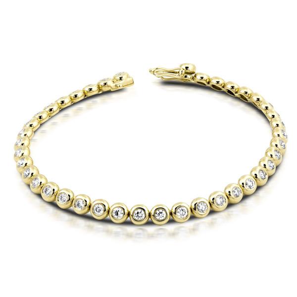750er Gold Tennisarmband mit Diamanten zus. 2,00ct. Armreif Armkette Armband 18K