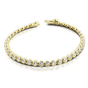 750er Gold Tennisarmband mit Diamanten zus. 2,00ct....