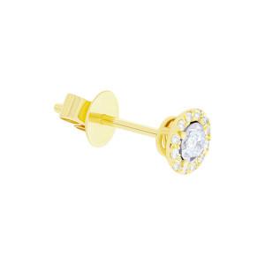 Paar 585er Gelbgold Diamanten Ohrstecker 0,21ct Solitaire Ohrringe Brilliant 14K