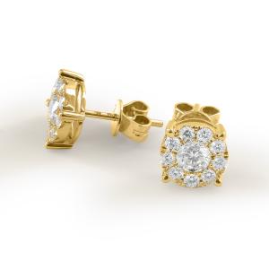 Paar 750er Gold Diamanten Ohrstecker 0,21ct Solitaire...
