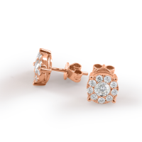 Paar 750er Gold Diamanten Ohrstecker 0,21ct Solitaire Ohrringe Brilliant 18K