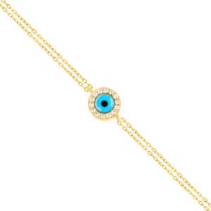 Damen Armband 585er Gelbgold Plättchen Kreis...