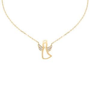 585er Gelbgold Engel Halsketten Anhänger mit...