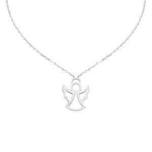 585er Weißgold Halsketten Engel Anhänger Kette...