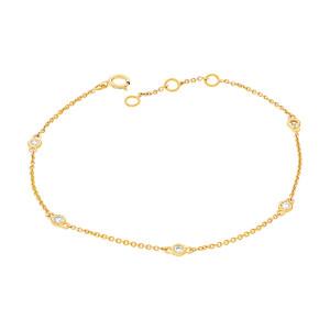 585er Gelbgold Armband mit 5 x Brillanten 0,15 ct....