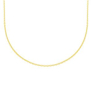 585er Gelbgold Ankerkette Diamantiert 42 + 3 cm