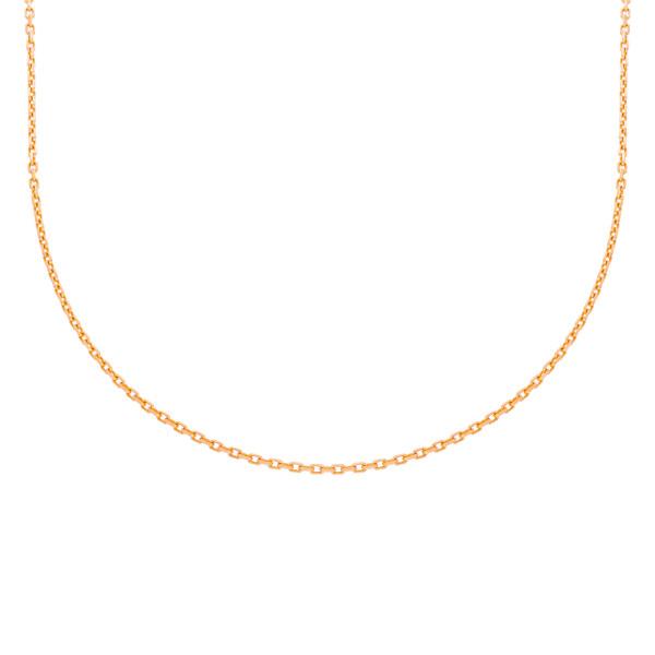 585er Rotgold Ankerkette Diamantiert 42 + 3 cm