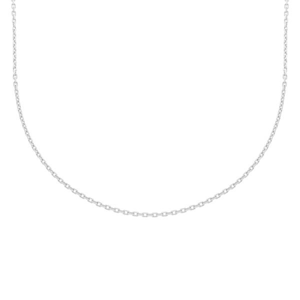 585er Weißgold Ankerkette Diamantiert 42 + 3 cm