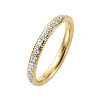 585er Gold Memory Ring 16 x Diamanten zus. ca. 0,35 ct. im Verschnitt