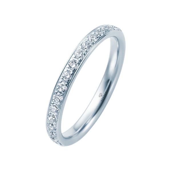 585er Weißgold Memory Ring 16 x Diamanten zus. ca. 0,35 ct. im Verschnitt