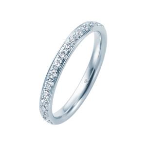 585er Weißgold Memory Ring 16 x Diamanten zus. ca....