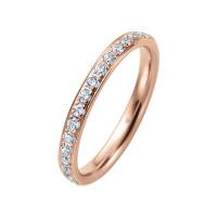 585er Rotgold Memory Ring 20 x Diamanten zus. ca. 0,25 ct. im Verschnitt