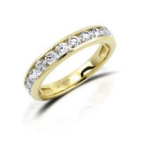 585er Gelbgold Memory Ring 20 x Diamanten zus. ca. 0,25 ct. Kanalfassung