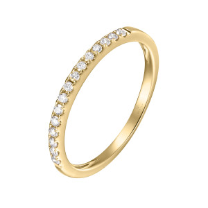 750er Gelbgold Memory Ring 16 x Diamanten zus. ca. 0,27...